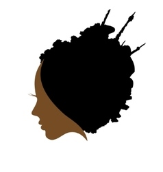 profile of woman hair style vector image vector image