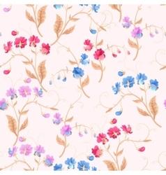 Seamless sweetpea flowers vector