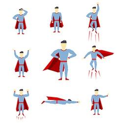 Superhero comic book style page cartoon pose vector image