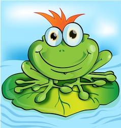 Happy frog vector