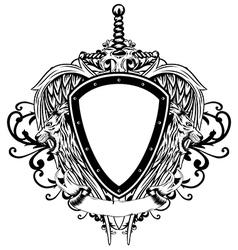 board sword wings lions vector image