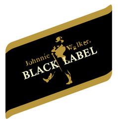 johny walker black label image vector image vector image