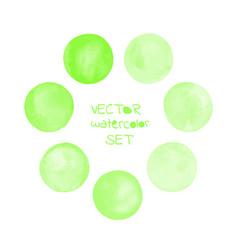 watercolor green painted circle frame vector image