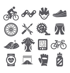 Biking icons vector image