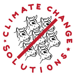 climate change cows vector image vector image