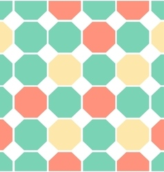 colored polygon seamless pattern vector image vector image