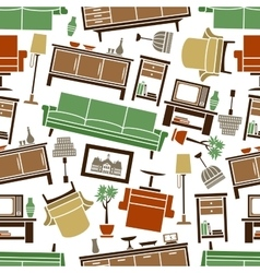 Cozy furnishing seamless pattern background vector image