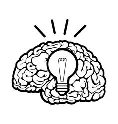Human brain sign vector image