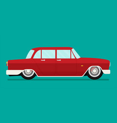 old school car flat vector image