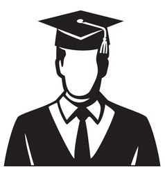 student graduate vector image