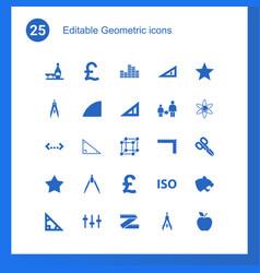 25 geometric icons vector
