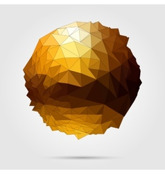 Abstract 3D geometric vector image