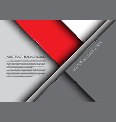 Abstract red gray overlap design modern background vector