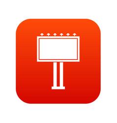 advertising billboard icon digital red vector image