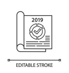 Annual report linear icon vector