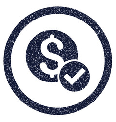 Approved payment rounded grainy icon vector