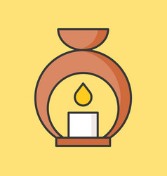 aroma lamp icon filled outline vector image