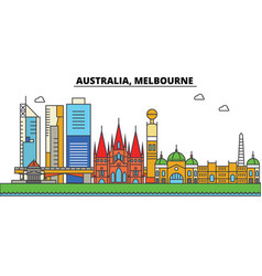 australia melbourne city skyline architecture vector image