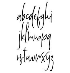 ballpen handwritten alphabet vector image