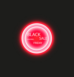 black friday sale poster or banner glowing vector image