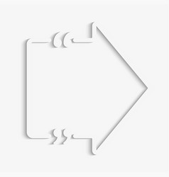 blank template quote arrow right bracket vector image