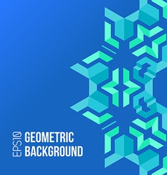 Blue green asymmetric abstract geometric vector