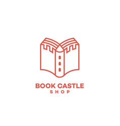 Book castle logo vector