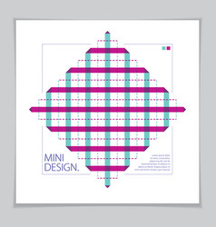 brochure design template minimal design modern vector image
