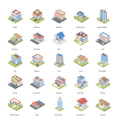 buildings and architectures icons vector image