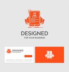 Business logo template for resume employee hiring vector
