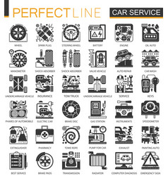 car service black mini concept icons and vector image