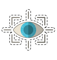 Cartoon eye virtual reality concept vector