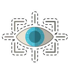 cartoon eye virtual reality concept vector image