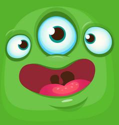 Cartoon funny alien face vector