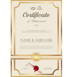 Certificate or diploma retro vintage design 039 vector