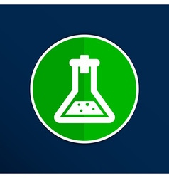 Chemical flask icon laboratory glass beaker lab vector image
