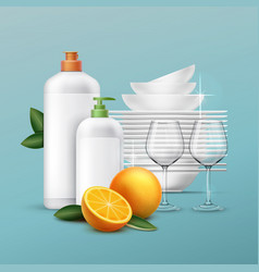 Clean dishes vector
