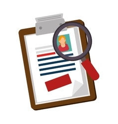 Clipboard with magnifying glass vector