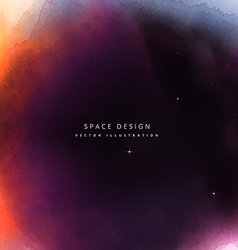 colorful space design background vector image