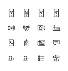 communication icon vector image