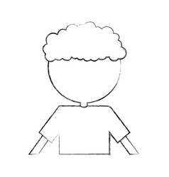 curly haired boy character vector image