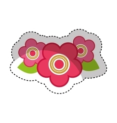 Cute japanese flower icon vector