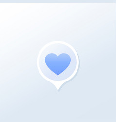 Dating service icon or logo vector
