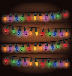 decorative christmas lights vector image