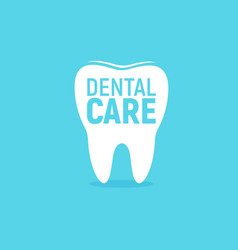 dental care icon tooth enamel protection flat vector image