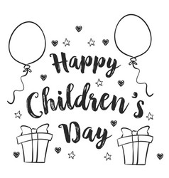 design background childrens day collection vector image