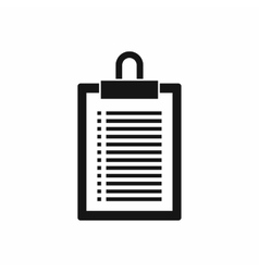 Document plan icon simple style vector image