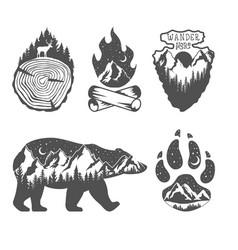 Double exposure wildlife concept hand drawn vector