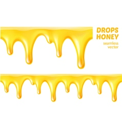 Drops honey seamless vector