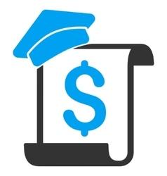 Education Invoice Flat Icon vector